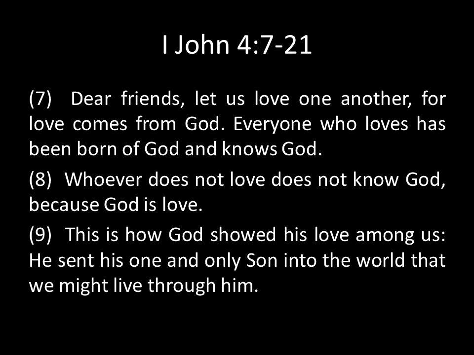 I John 4:7-21