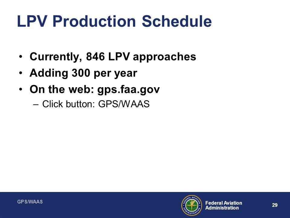 LPV Production Schedule