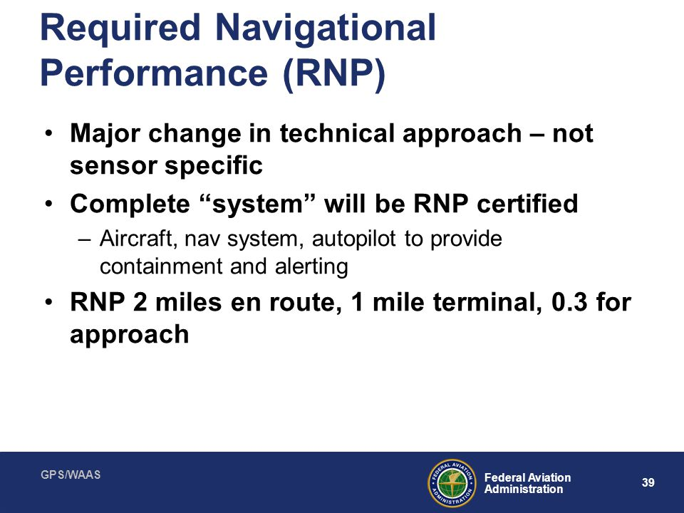 Required Navigational Performance (RNP)