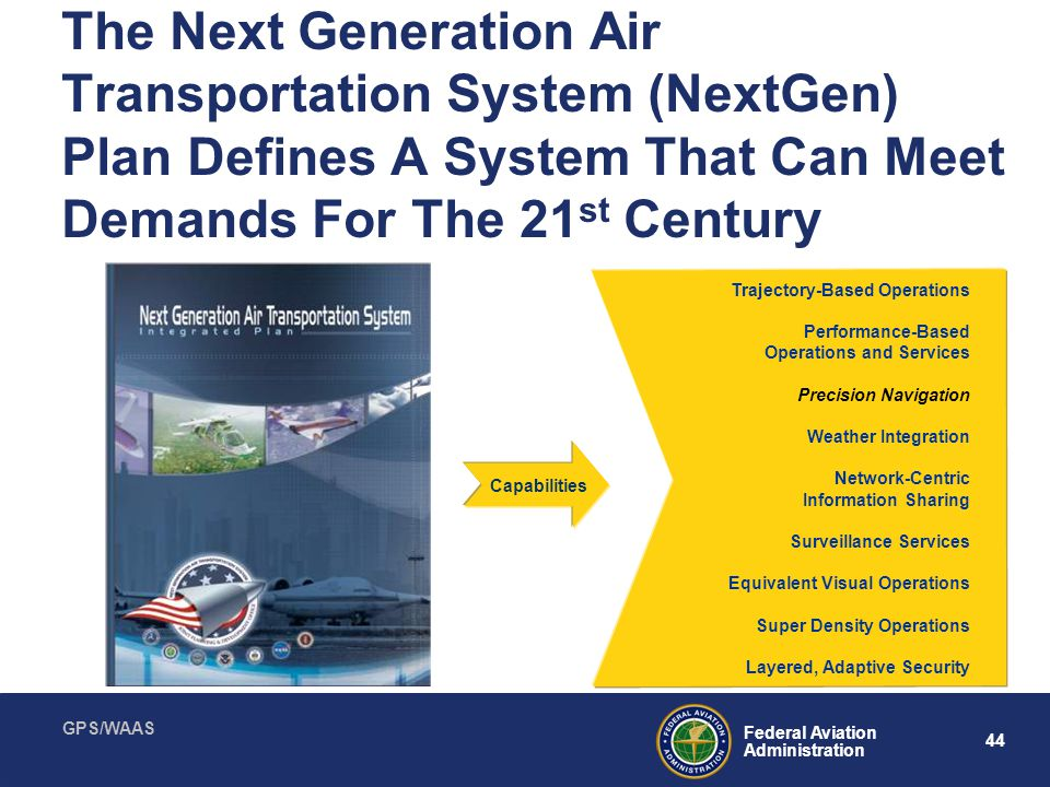 The Next Generation Air Transportation System (NextGen) Plan Defines A System That Can Meet Demands For The 21st Century