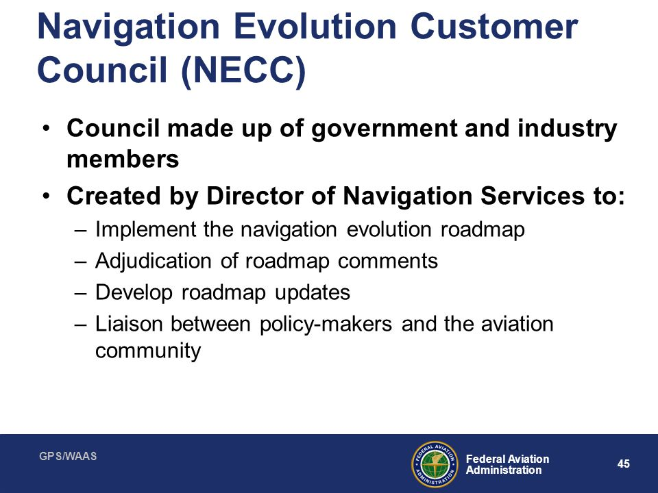 Navigation Evolution Customer Council (NECC)