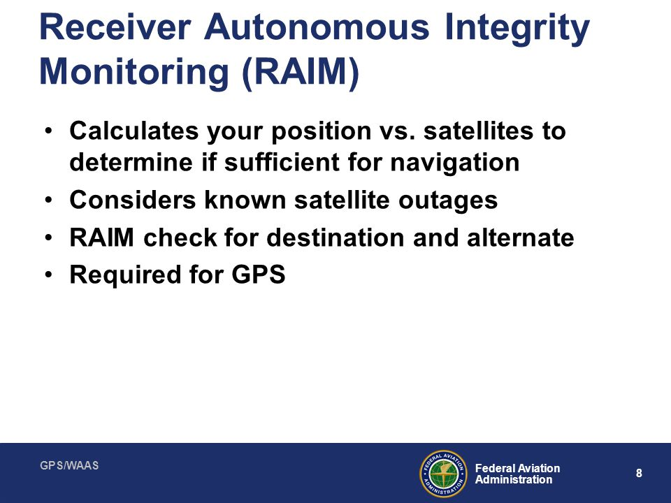 Receiver Autonomous Integrity Monitoring (RAIM)
