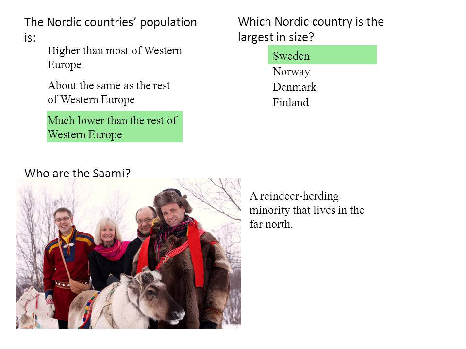 The Nordic countries' population is: