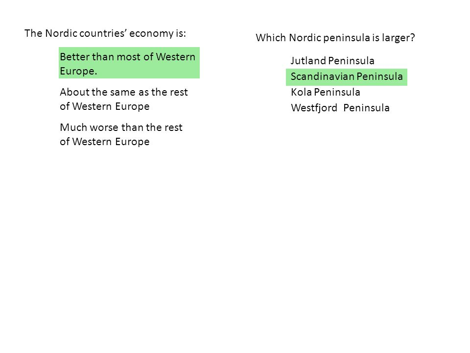The Nordic countries' economy is:
