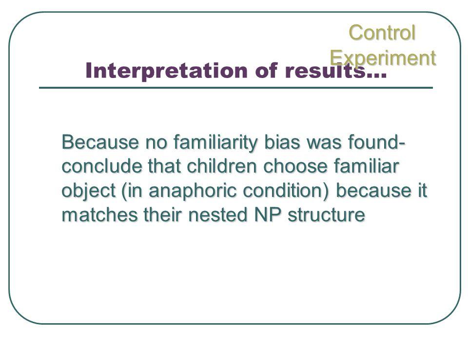 Interpretation of results…