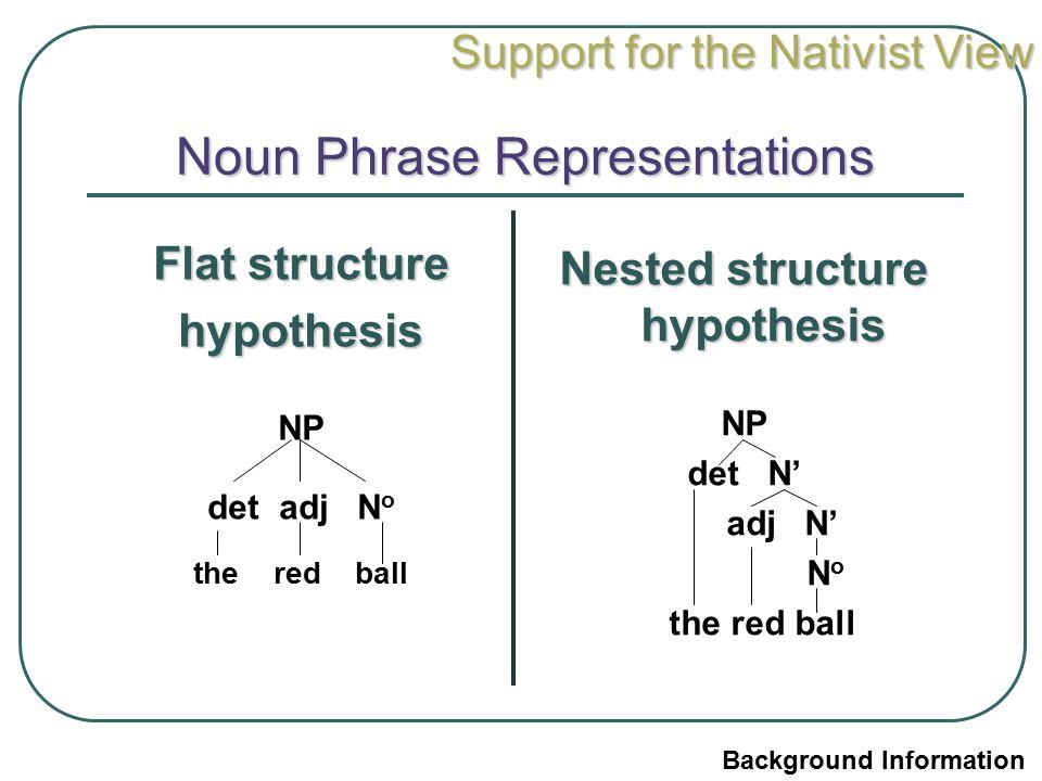 Noun Phrase Representations