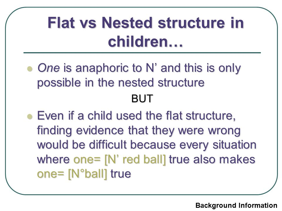 Flat vs Nested structure in children…
