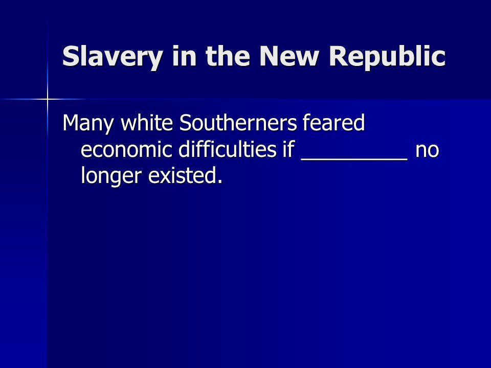 Slavery in the New Republic