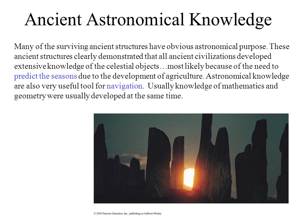 Ancient Astronomical Knowledge