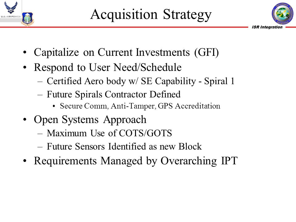 Acquisition Strategy Capitalize on Current Investments (GFI)