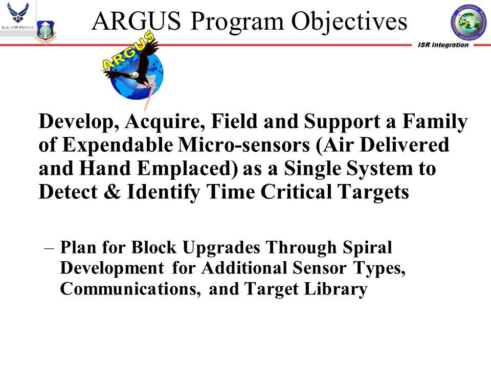ARGUS Program Objectives
