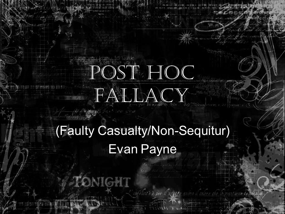 (Faulty Casualty/Non-Sequitur) Evan Payne