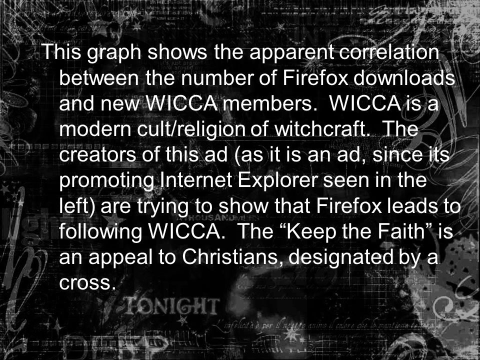 This graph shows the apparent correlation between the number of Firefox downloads and new WICCA members.
