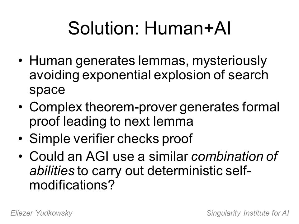 Eliezer Yudkowsky Singularity Institute for AI