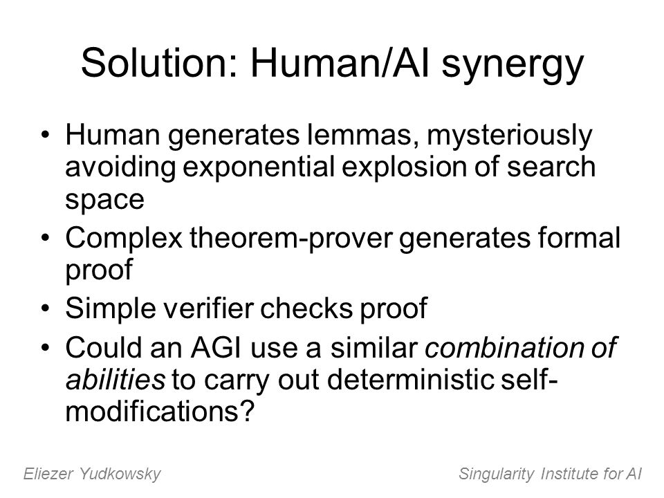 Solution: Human/AI synergy