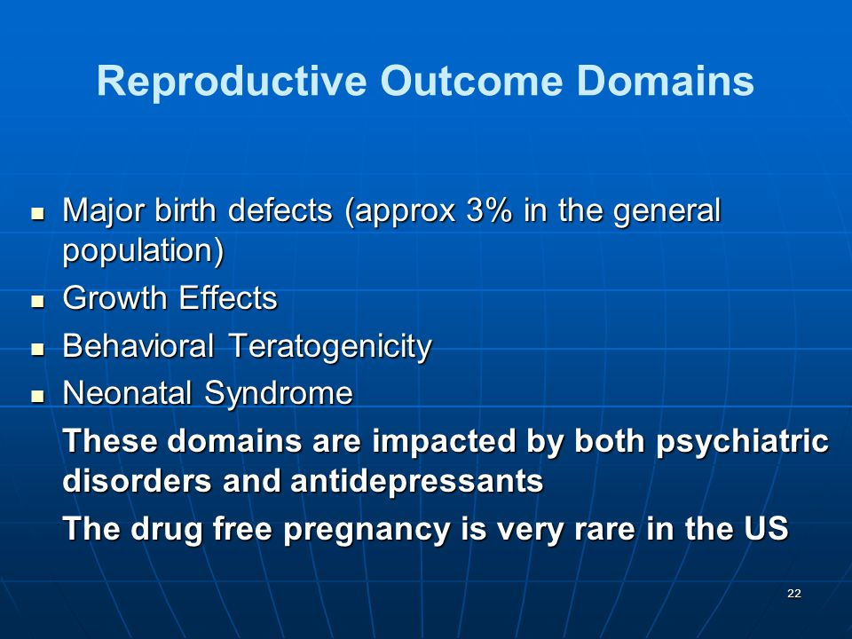 Reproductive Outcome Domains