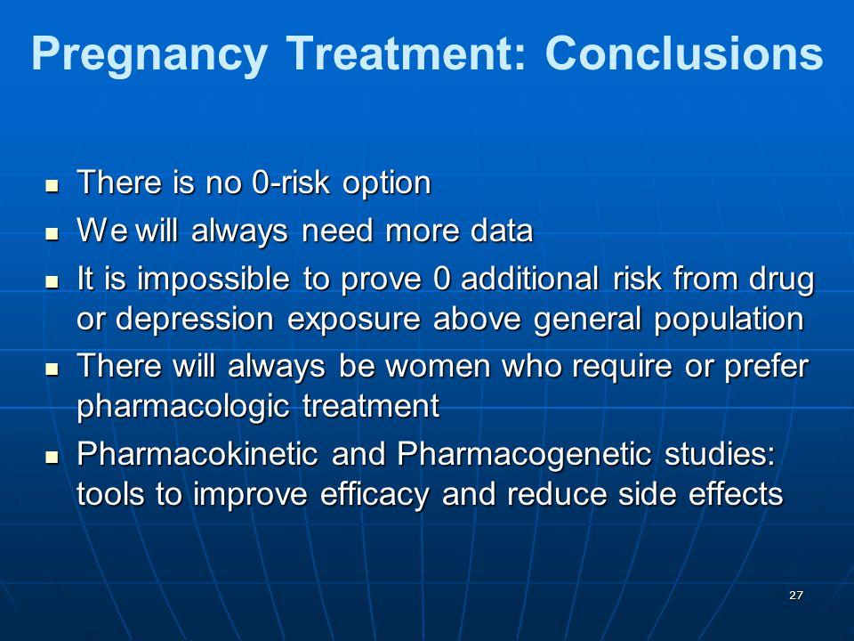 Pregnancy Treatment: Conclusions