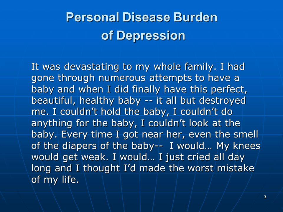 Personal Disease Burden of Depression