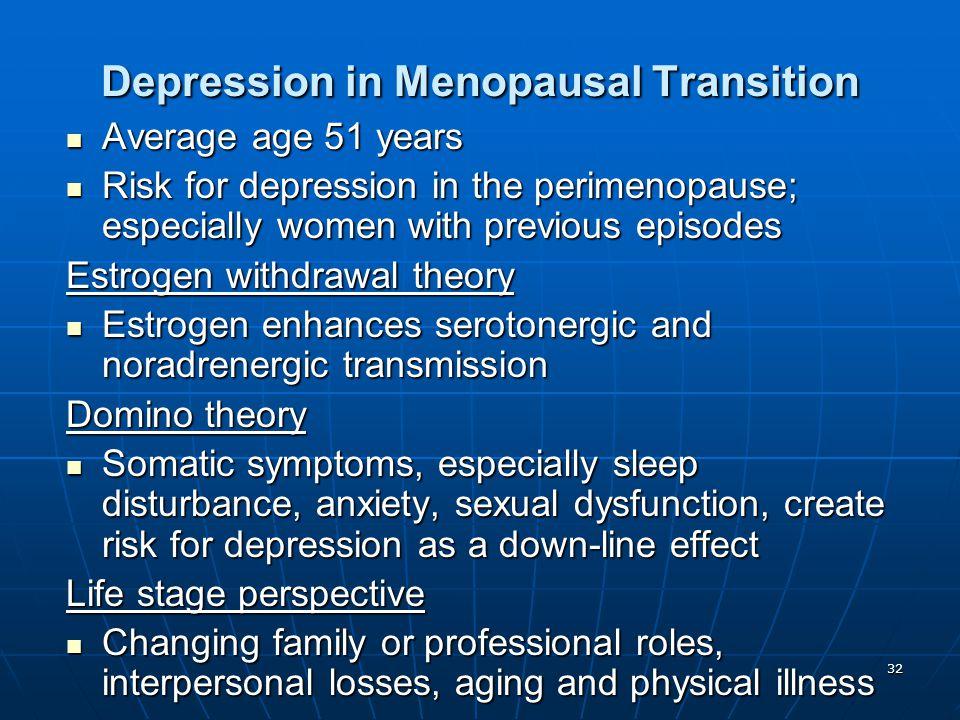 Depression in Menopausal Transition