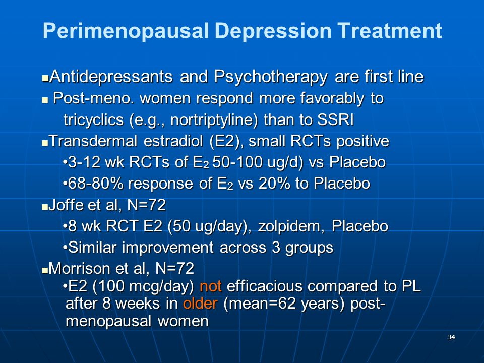 Perimenopausal Depression Treatment