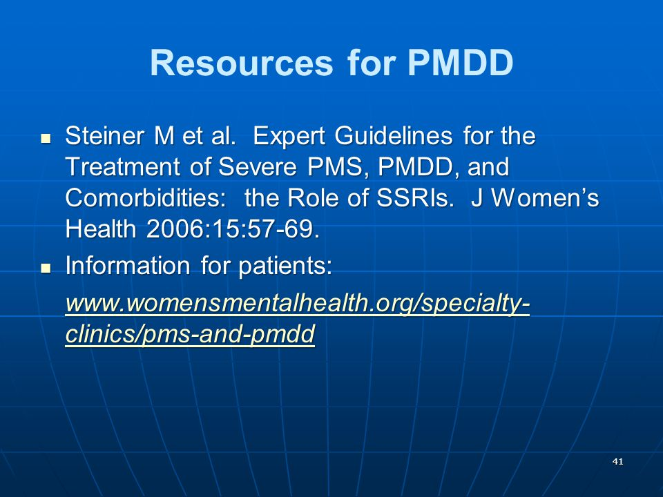 Resources for PMDD