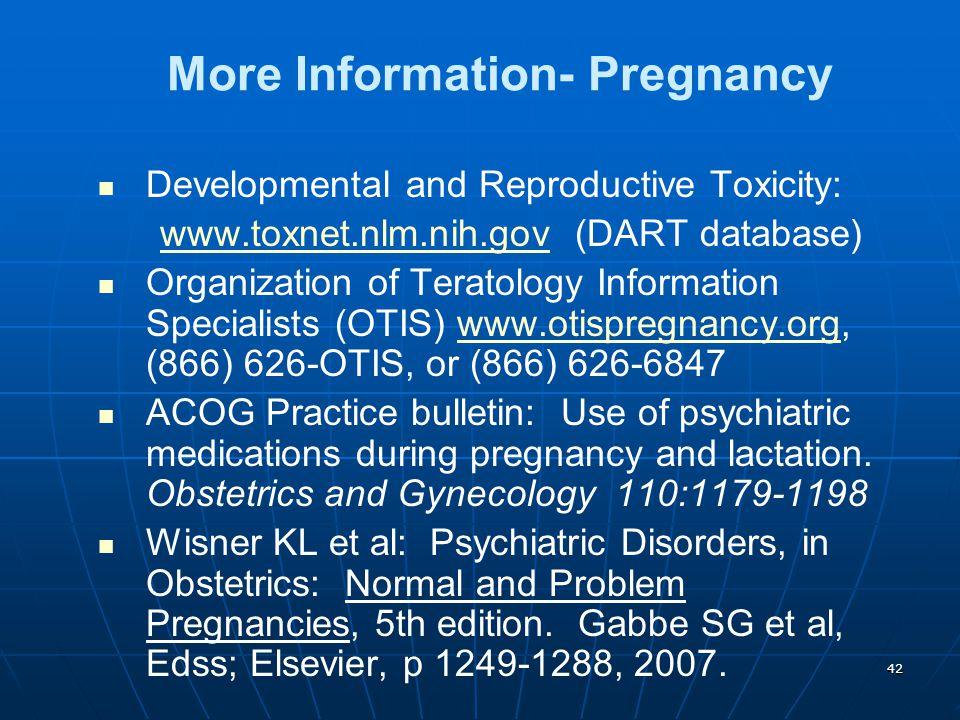 More Information- Pregnancy