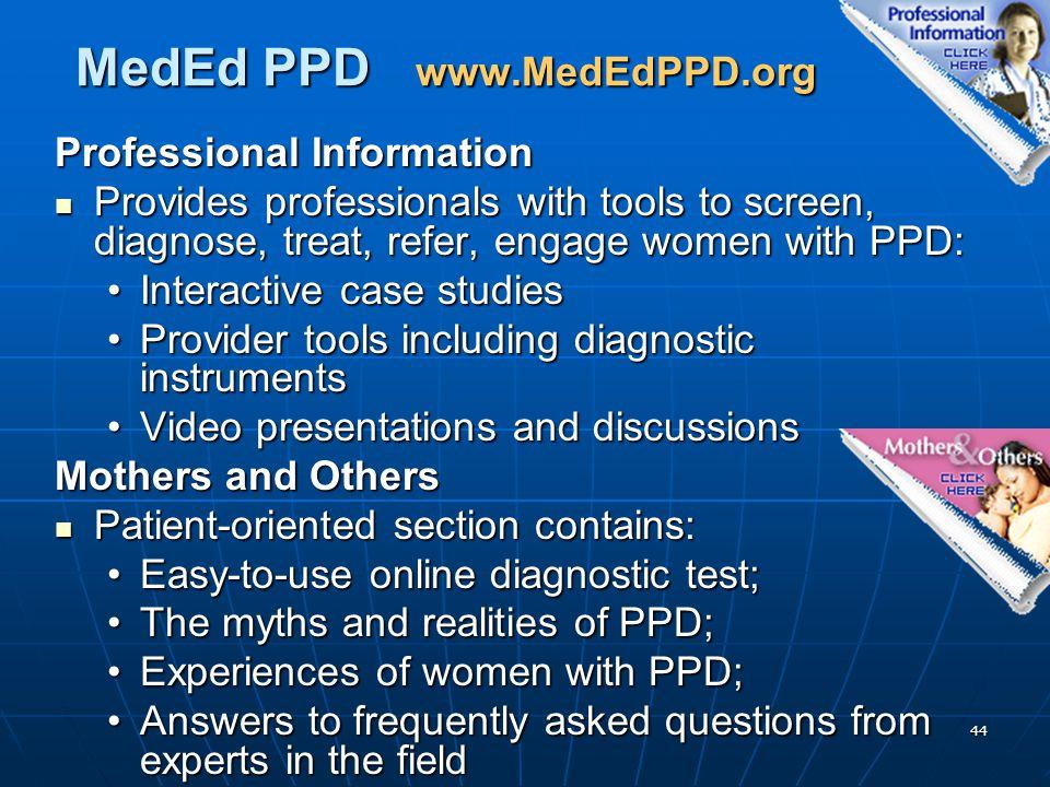 MedEd PPD www.MedEdPPD.org