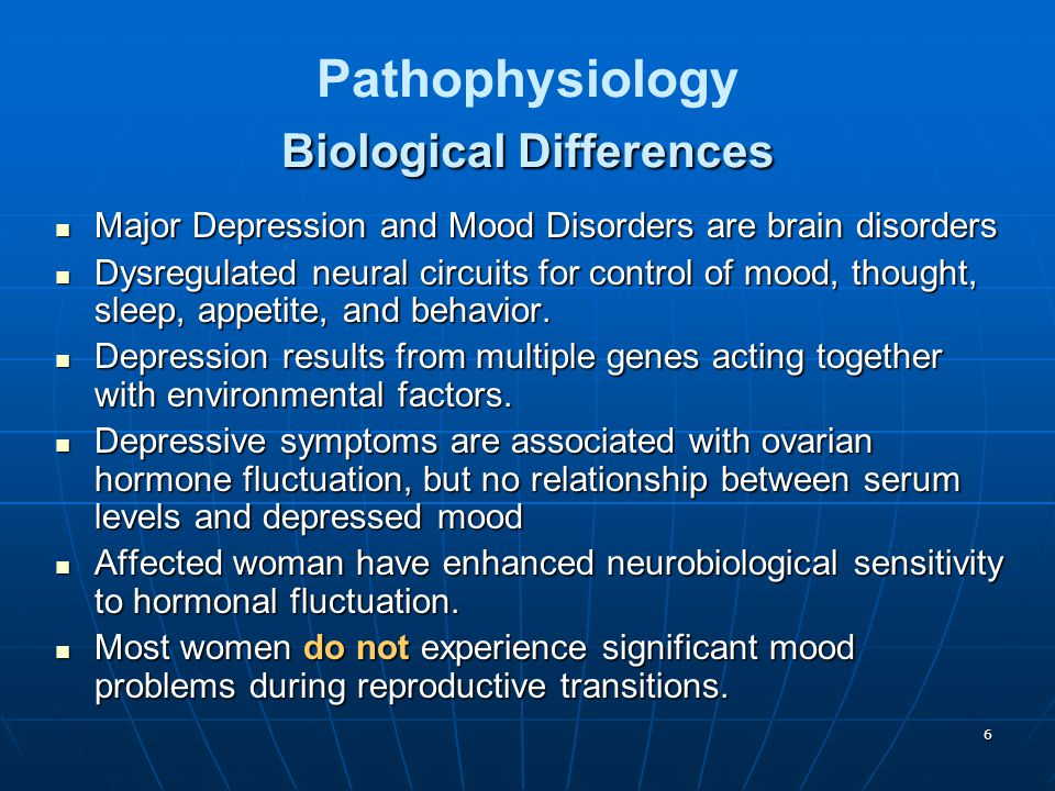 Pathophysiology Biological Differences