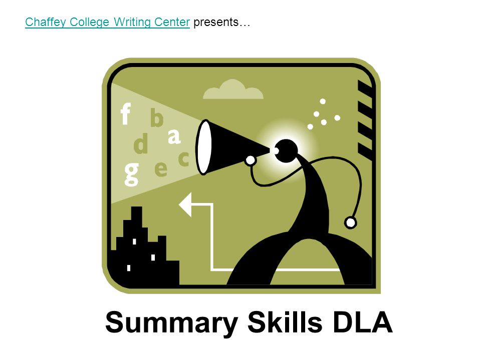 Chaffey College Writing Center presents…