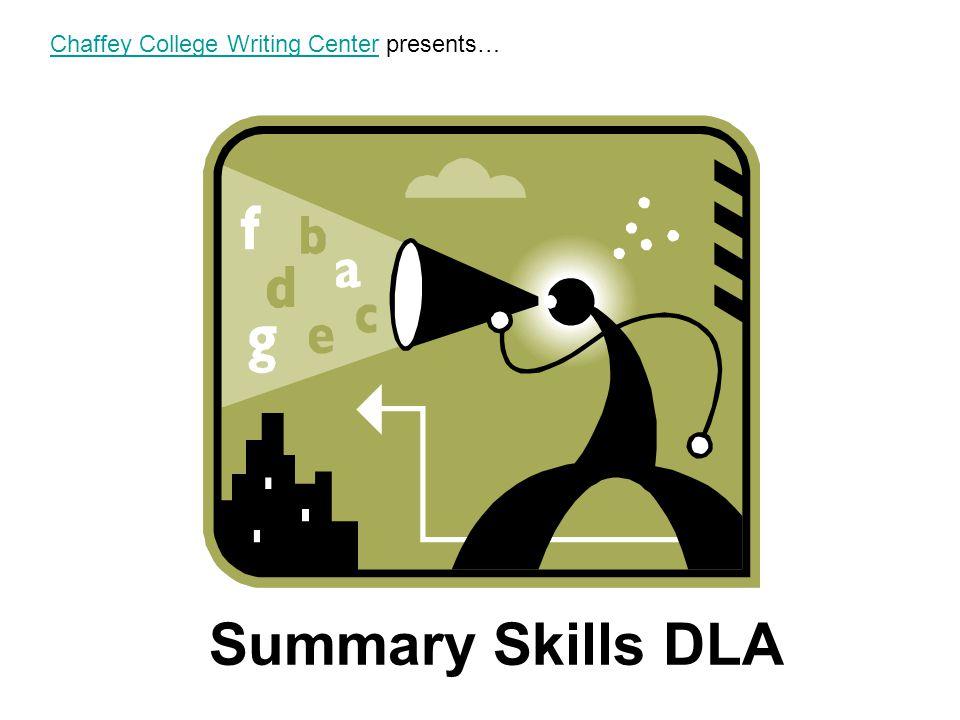 Chaffey College Writing Center presents…