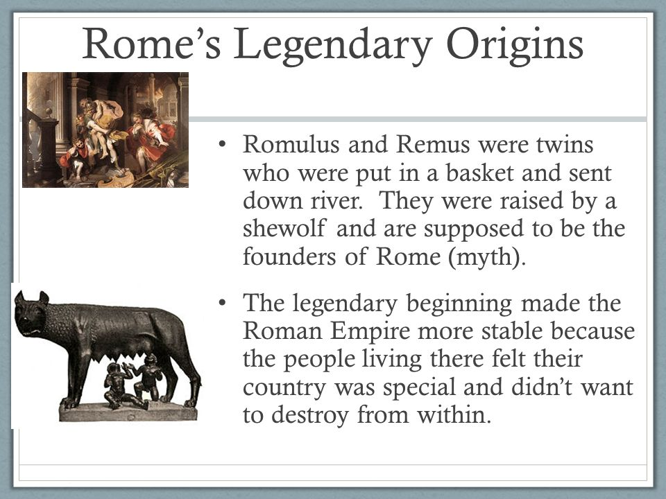 Rome's Legendary Origins