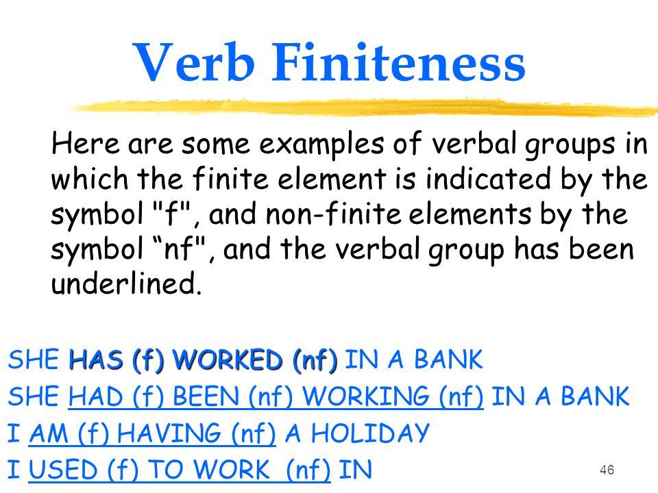 Verb Finiteness