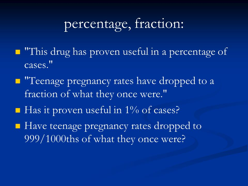 percentage, fraction: This drug has proven useful in a percentage of cases.
