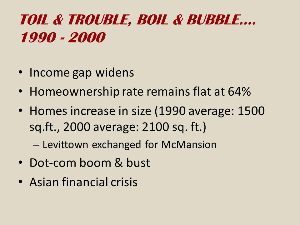 TOIL & TROUBLE, BOIL & BUBBLE…. 1990 - 2000