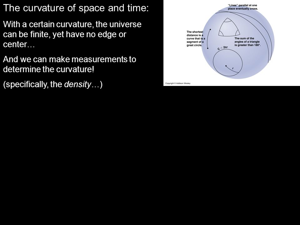 The curvature of space and time: