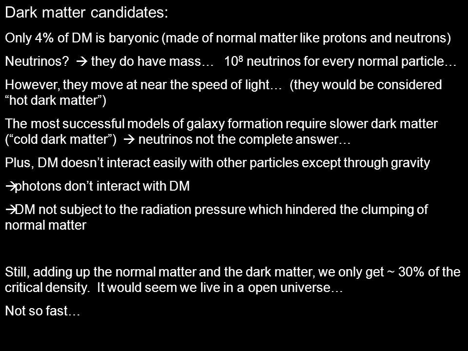 Dark matter candidates: