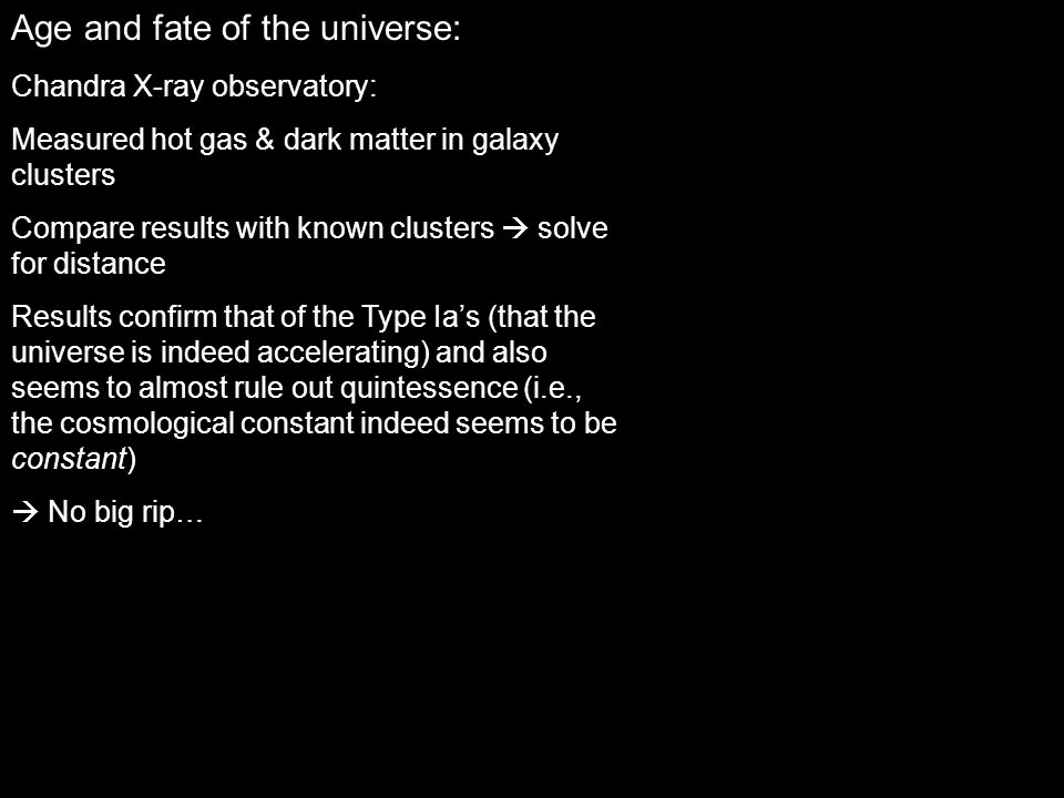 Age and fate of the universe:
