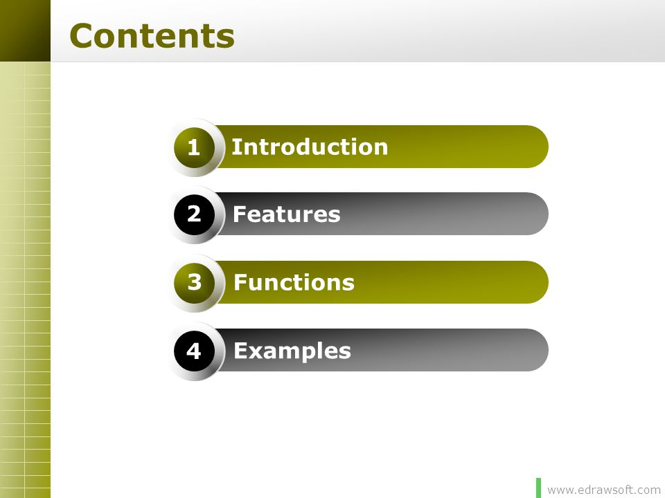 Contents Introduction 1 Features 2 Functions 3 Examples 4