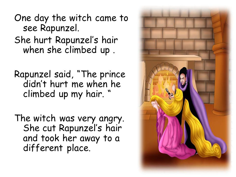 One day the witch came to see Rapunzel.