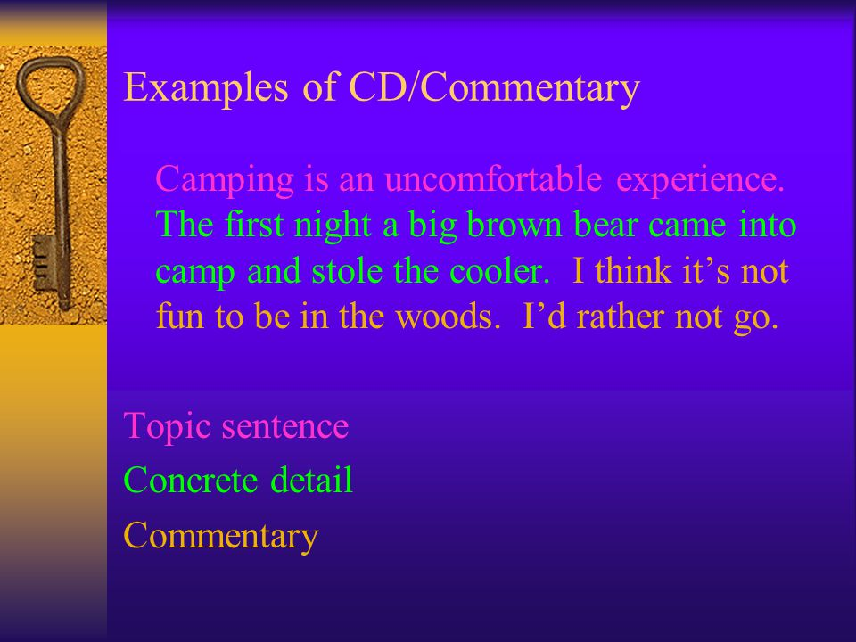 Examples of CD/Commentary