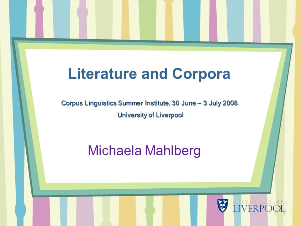 Literature and Corpora