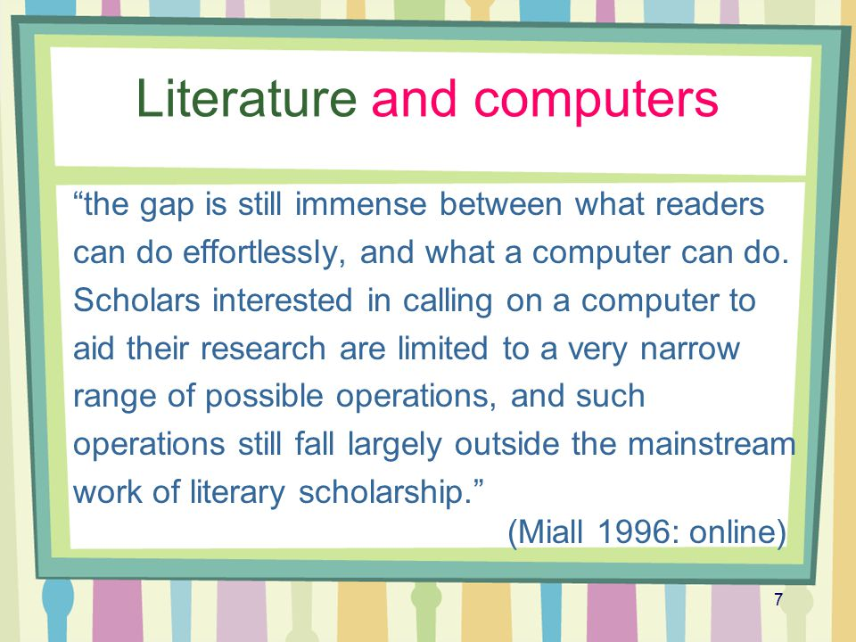 Literature and computers