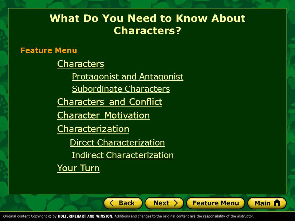 What Do You Need to Know About Characters
