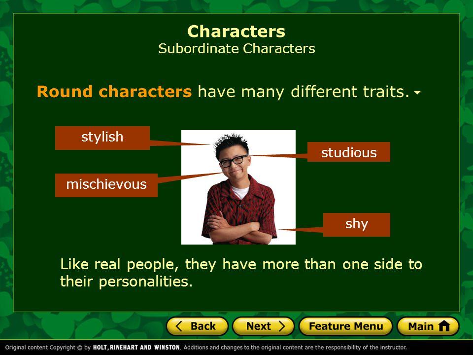 Characters Subordinate Characters