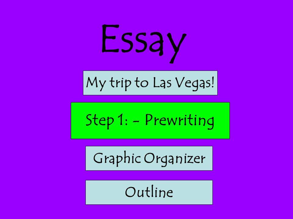 Essay Step 1: - Prewriting My trip to Las Vegas! Graphic Organizer