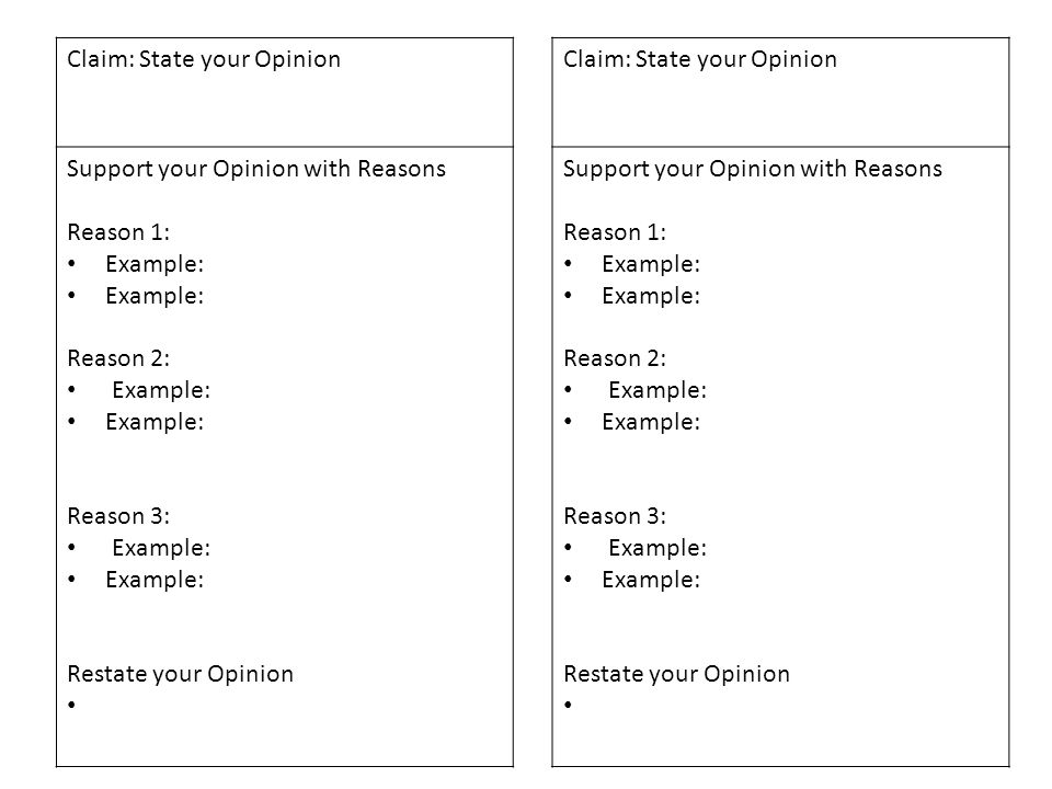 Claim: State your Opinion