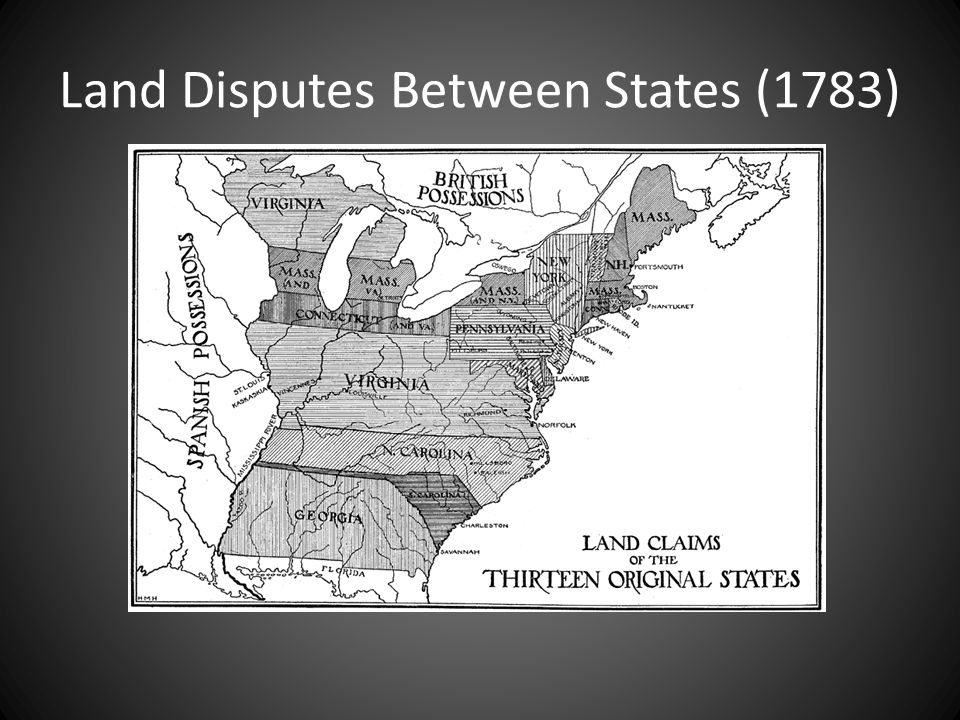 Land Disputes Between States (1783)