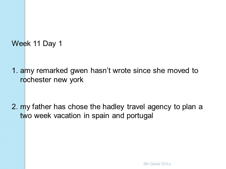 amy remarked gwen hasn't wrote since she moved to rochester new york