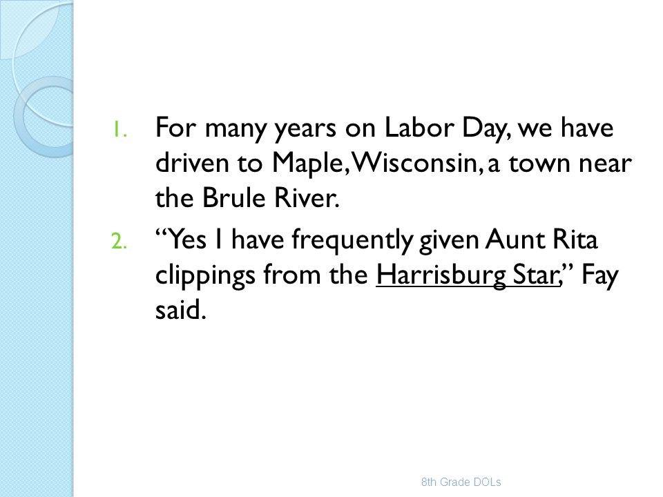 For many years on Labor Day, we have driven to Maple, Wisconsin, a town near the Brule River.