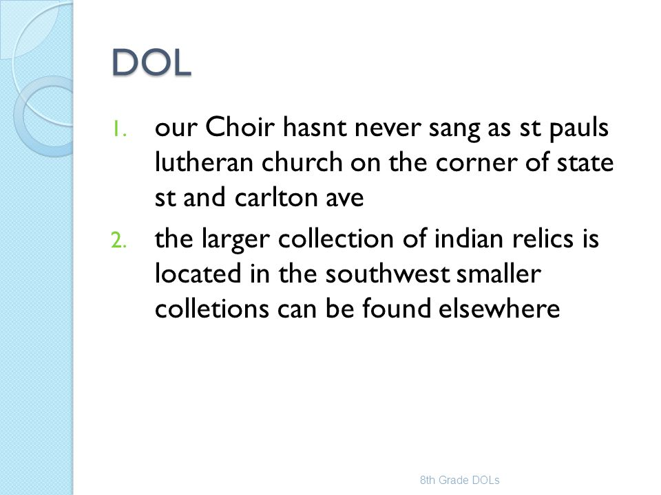 DOL our Choir hasnt never sang as st pauls lutheran church on the corner of state st and carlton ave.